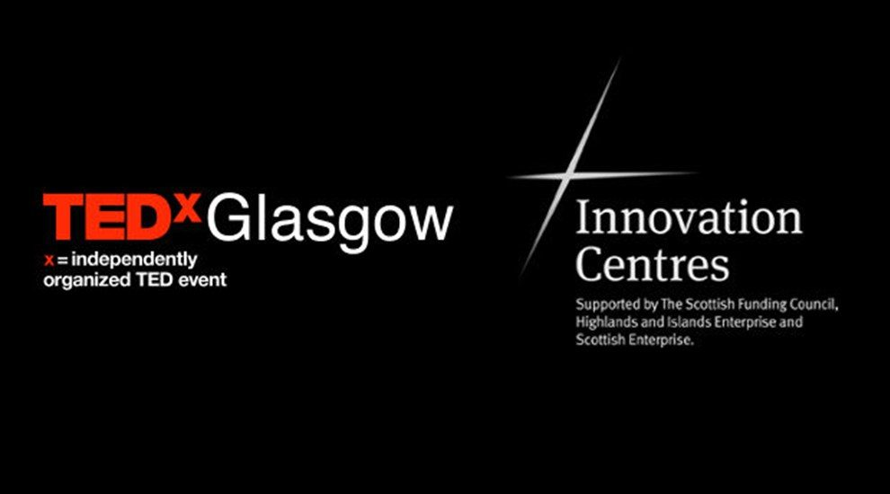 Banner for TEDx Glasgow with Innovation Centres logo