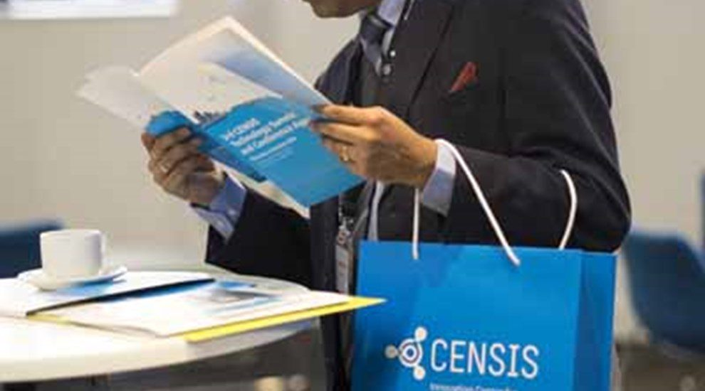 Business man with Censis bag