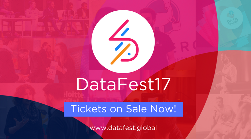 Banner for DataFest17 - tickets on sale now